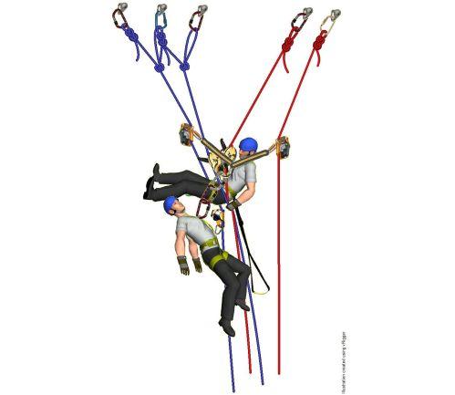 Autorrescate en trabajos verticales: 5 maniobras de descenso