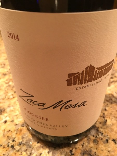 pizza night- Zaca Mesa Viognier