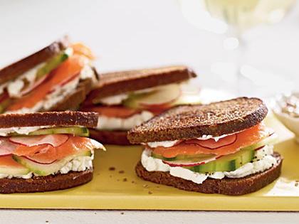 Chablis and Smoked Salmon Sandwiches