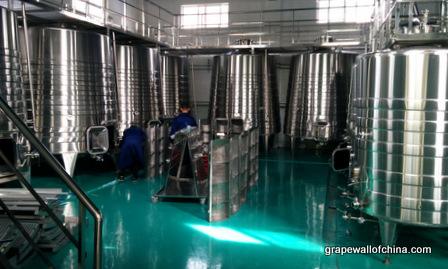 Shiny new equipment at Helan Qing Xue.