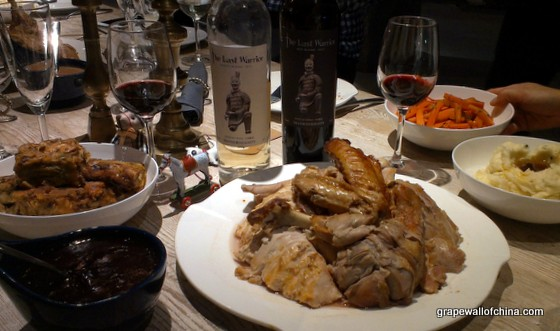 Christmas dinner and Chinese wine pairing