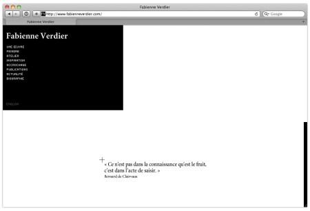 Site internet Fabienne Verdier