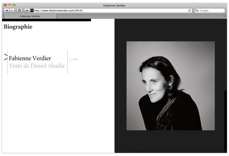 Site Internet de Fabienne Verdier