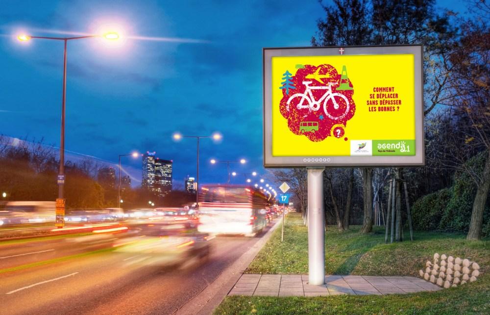 affiche route pour l'écologie