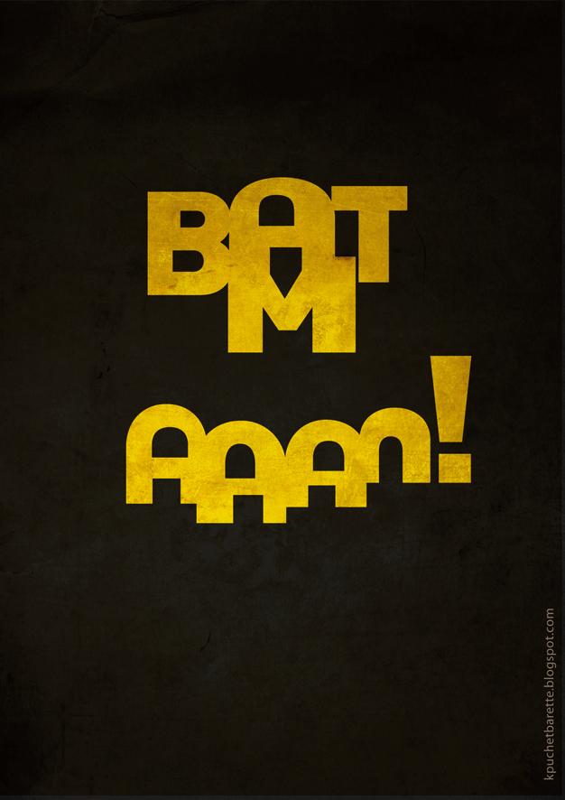 Logo typo de batman subliminal