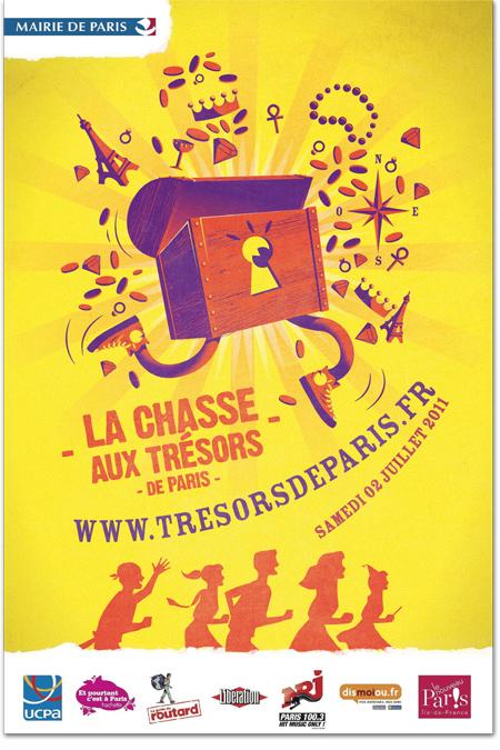 Une affiche pour la chasse aux trésors de Paris