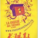 création d'une affiche pour une chasse au trésor dans paris
