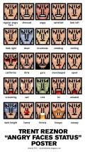 trent reznor from NIN emoticons poster