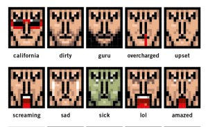 trent reznor from NIN emoticons poster