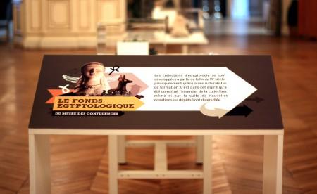 Scénographie pour une exposition sur l'égypte organisée par le musée des confluences de Lyon