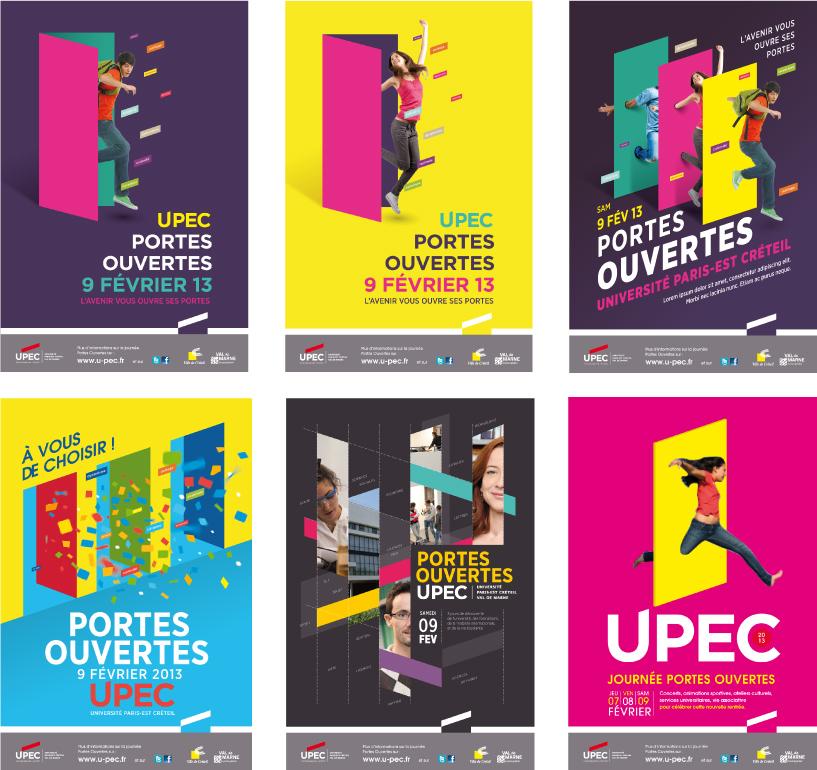 recherches d'affiches pour les journées portes ouvertes UPEC
