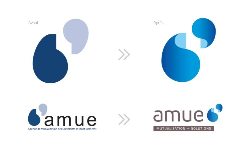 évolution, lifting, relookage d'un logo avant après