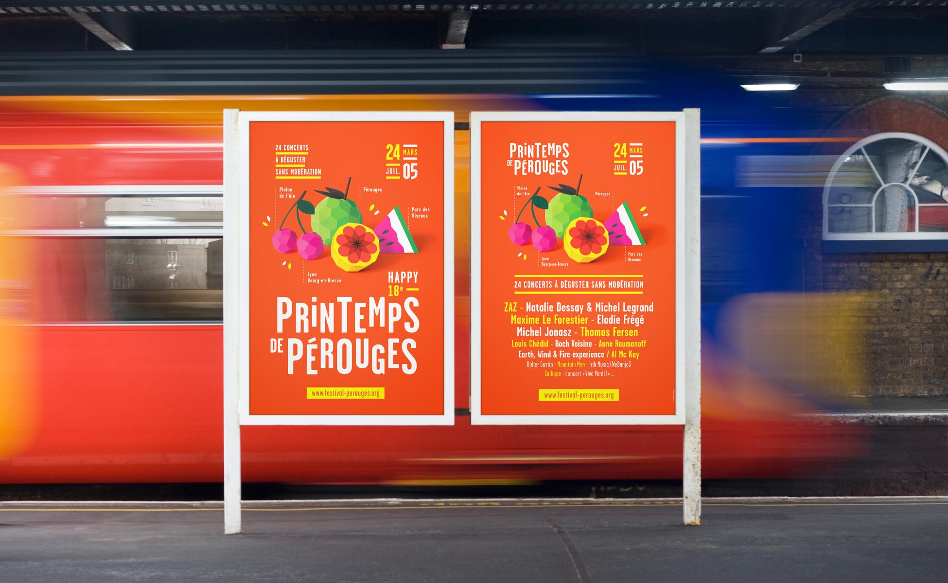 Spring festival of pérouges poster design graphéine