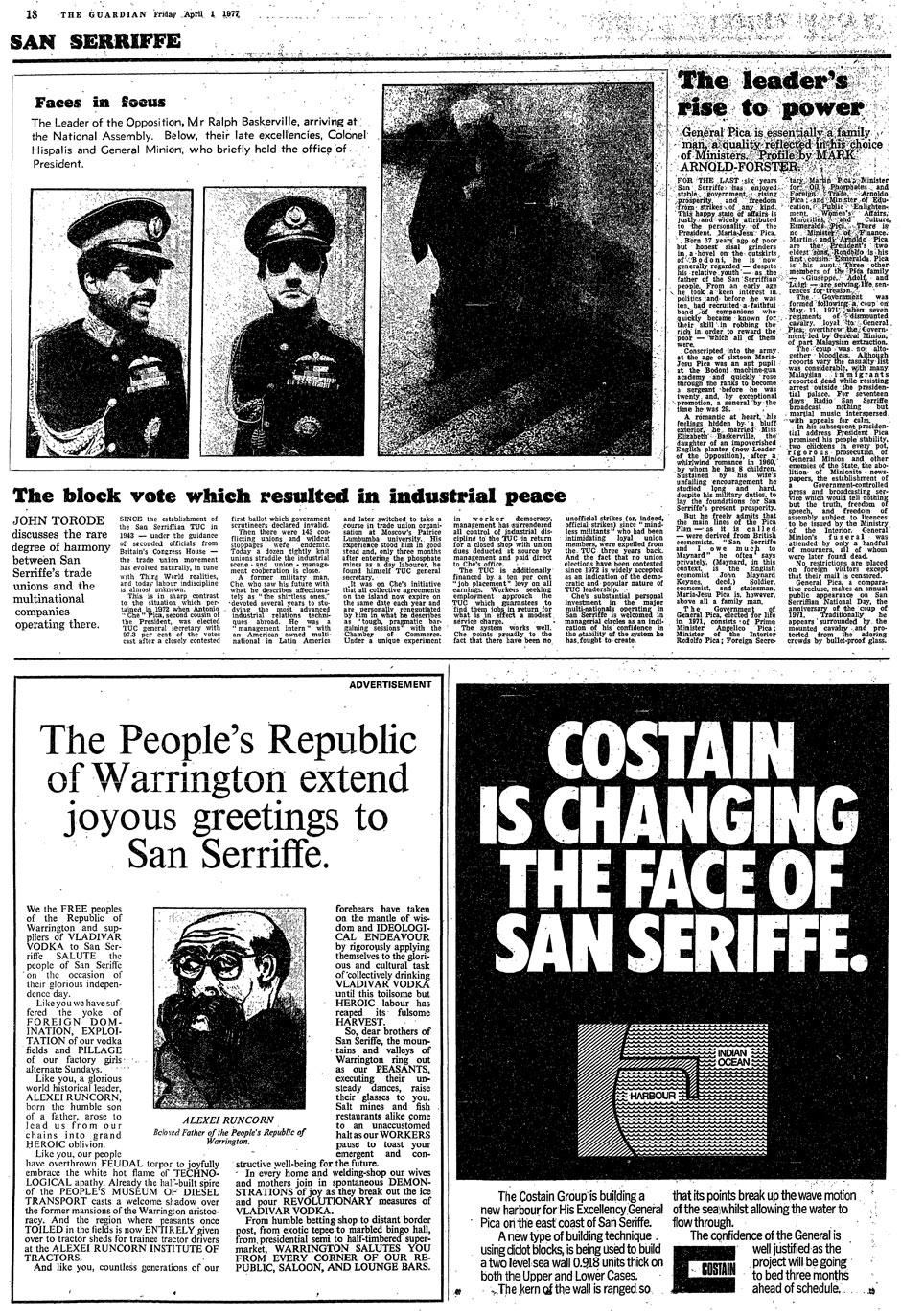 Guardian San Serriffe April Fool 1977