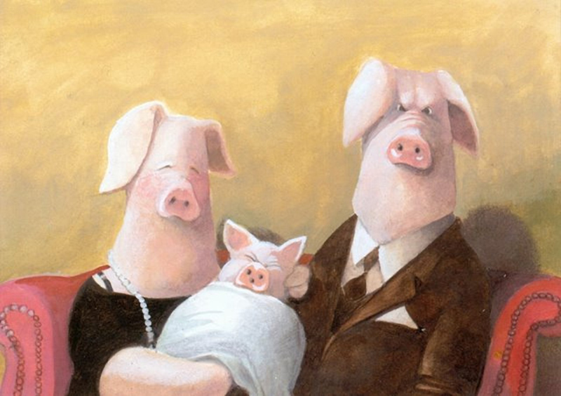 famille-cochons