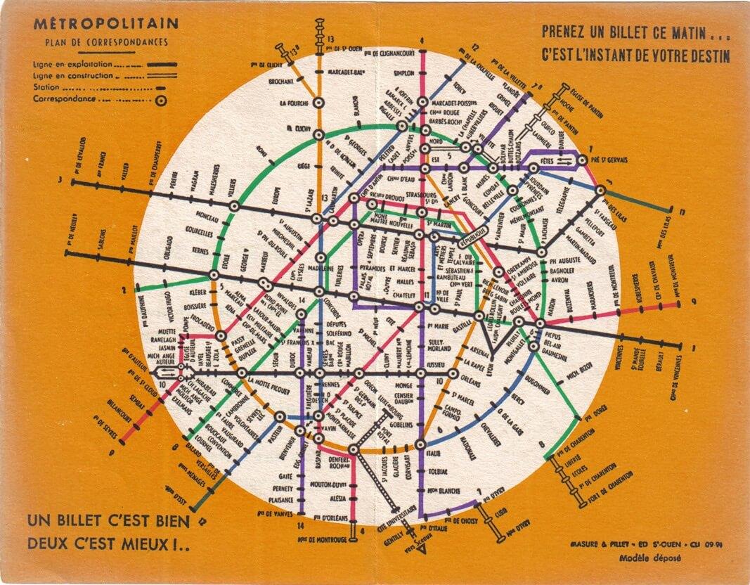 Evolution Du Plan De Metro De Paris Du Plat De Spaghetti A La Cite Futuriste Grapheine