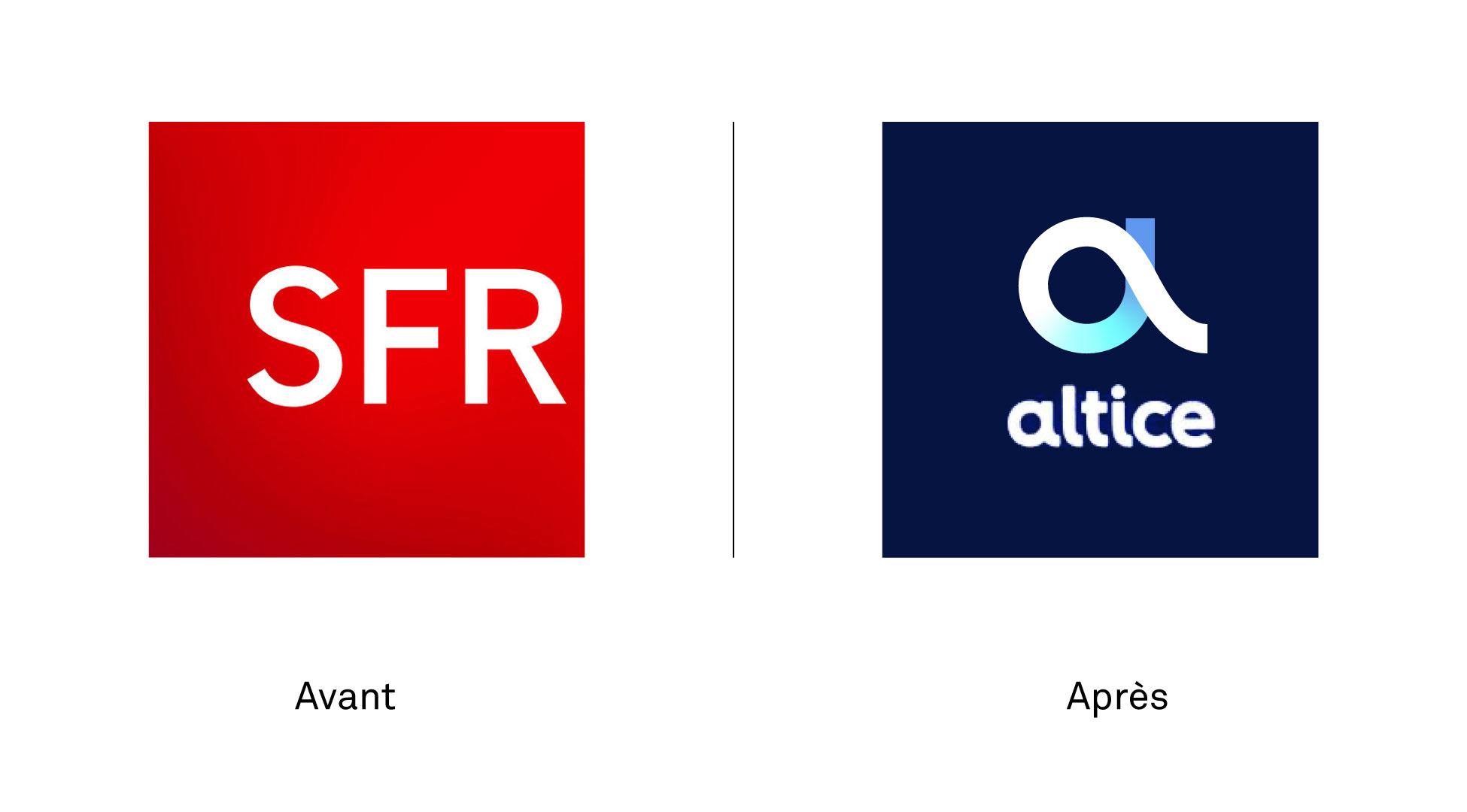 SFR Altice nouveau changement logo