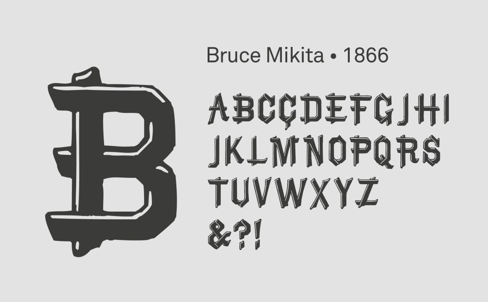 Bruce-mikita-rustic-shaded-typographie-japonaise