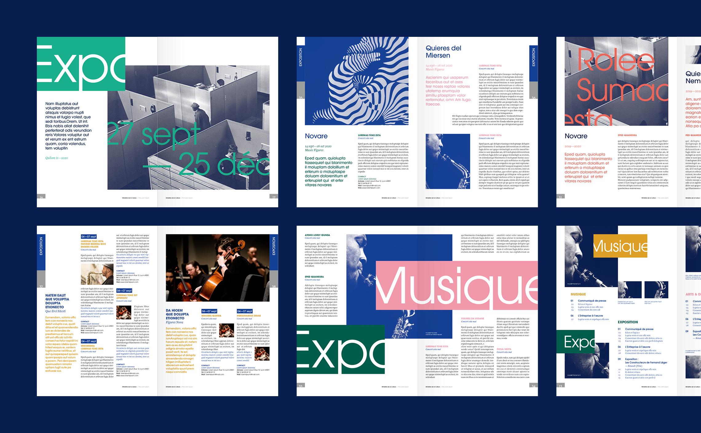 mise en page magazine ministère Culture