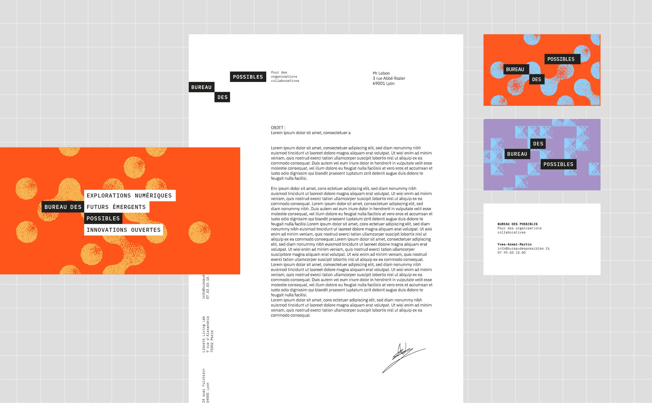 design graphique papeterie papier à lettre cartes de visites