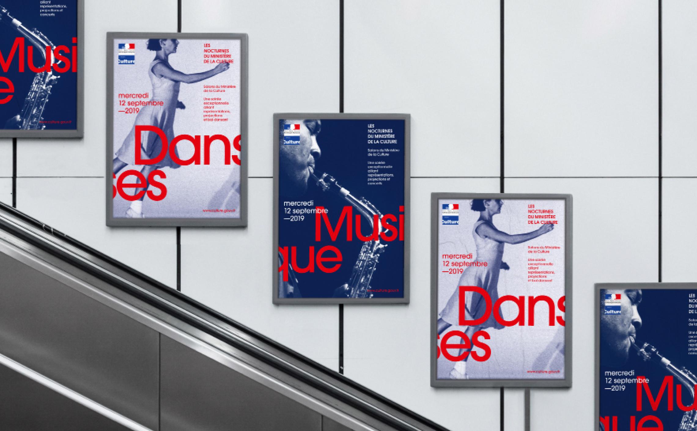 affiches musique danse métro
