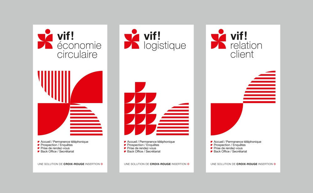leaflet graphic design layout modernist red