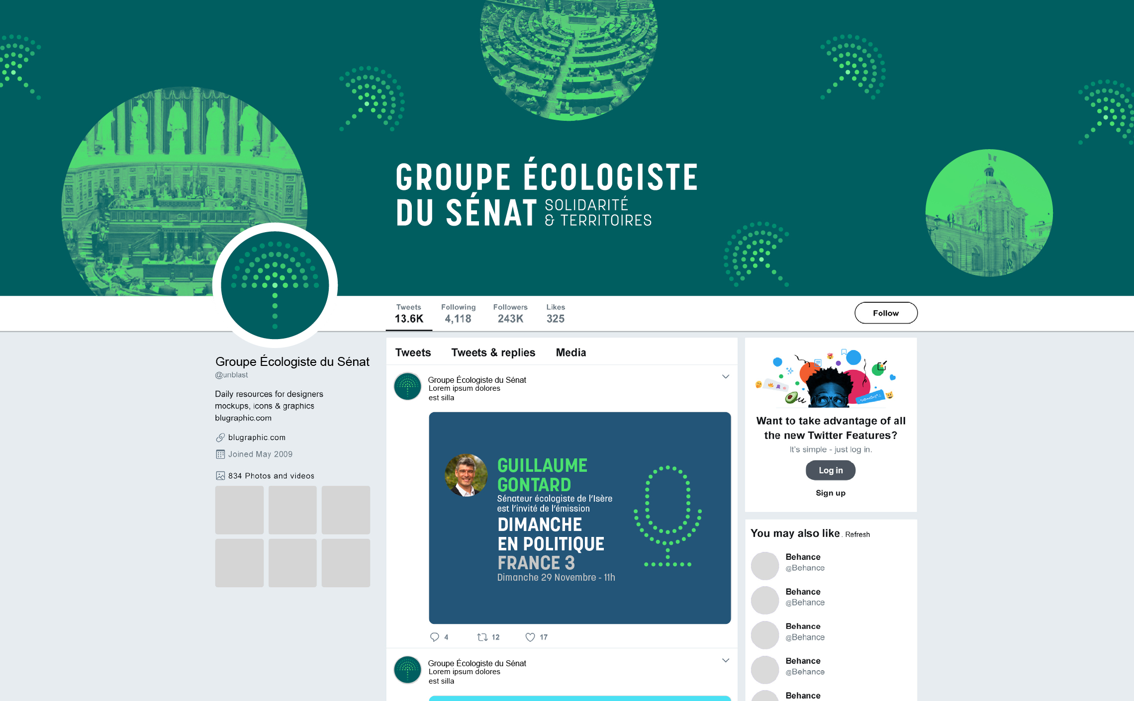 page facebook design template
