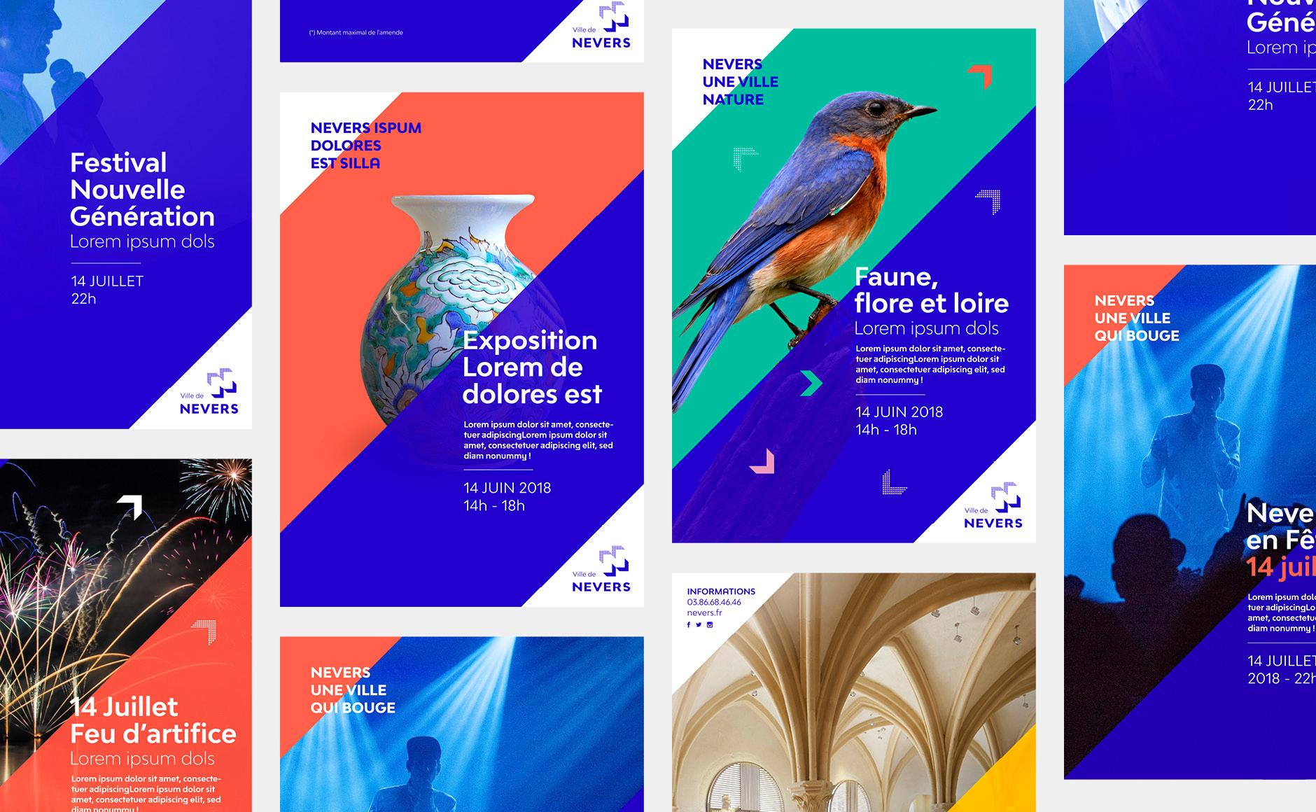design graphique affiches municipales
