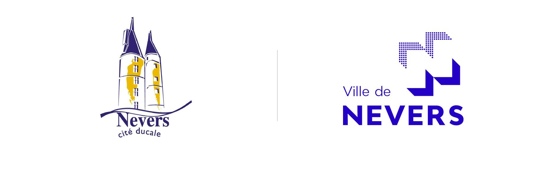 comparaison logo nevers ancien et nouveau