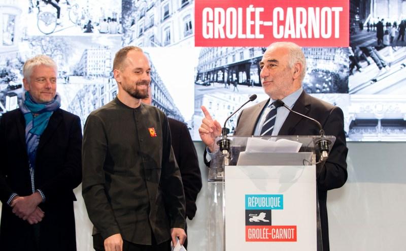 inauguration maire de lyon rue de la république