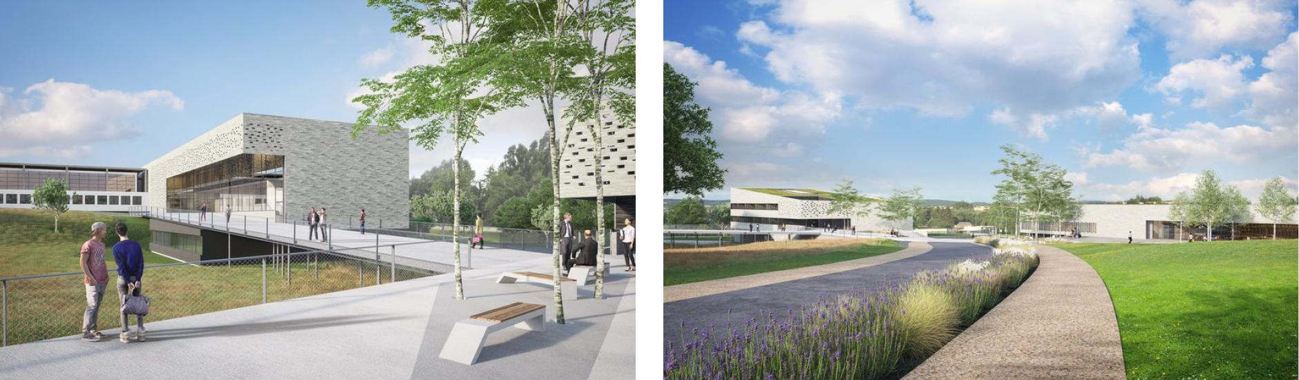 vue 3D du campus université ardenne