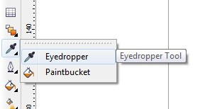 Eyedropper Paintbucket Tools in CorelDraw