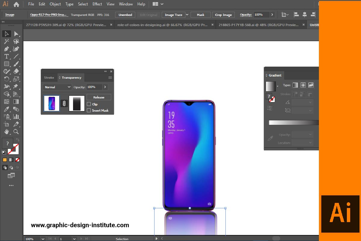 Create an Opacity Mask for Placed Image in Illustrator