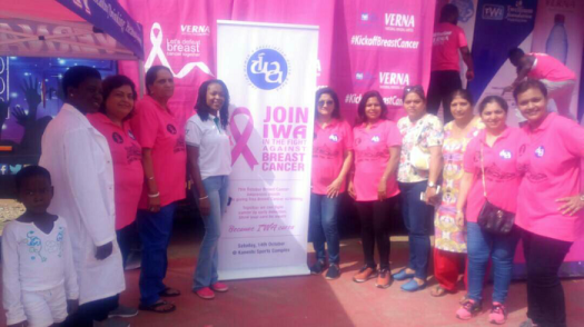 Some officials from Lister Hospital and Twellium Industries at the breast screening exercise
