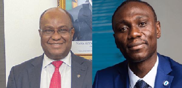 Managing Director of Sahel Sahara Bank, Mr Mensan Adeboke Affambi and Managing Director for OmniBank, Philip Oti Mensah