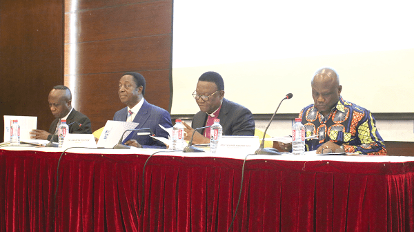 From right: Professor Newman Kusi, Rev Emmanuel Asante, Dr Kwabena Duffuor and Dr John Kwakye at the event