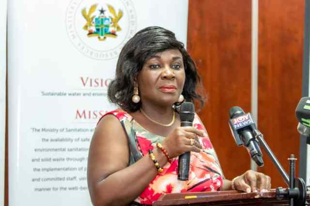Minister designate for Sanitation and Water Resources, Mrs Cecilia Dapaah