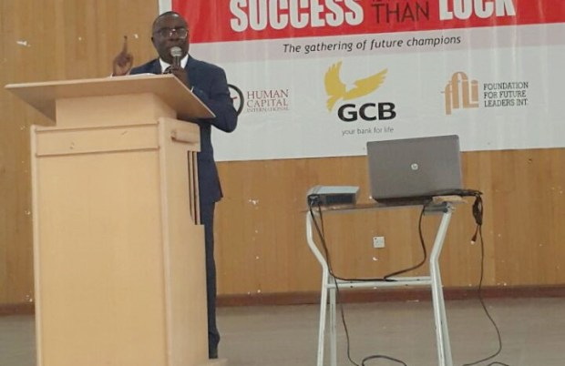 Mr Kwasi Opoku addressing the students