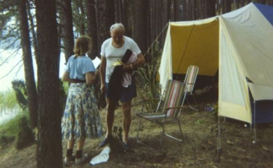 Cardinal Wojtyla and Anna Teresa Tymieniecka on a camping trip in 1978