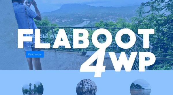 Free Bootstrap 4 Wordpress theme: Flaboot4 WP - GRAPHIC.it