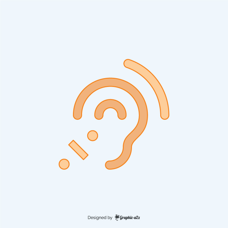 Assistive listening systems lineal color icon