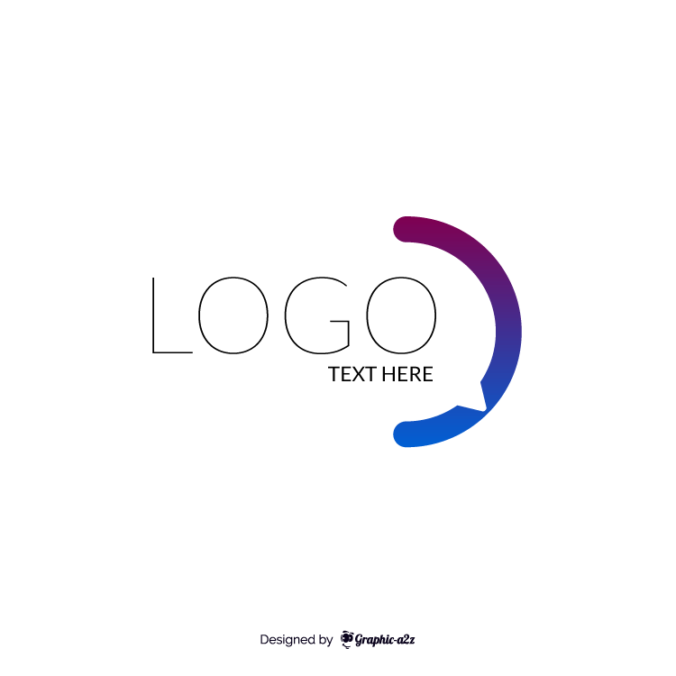 Q letter vector gradient logo