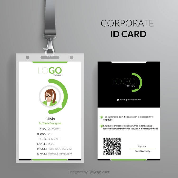 Corporate ID Card template