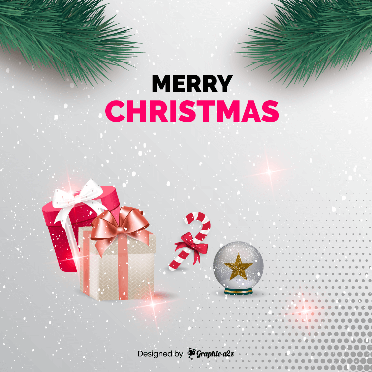 Merry Christmas creative background