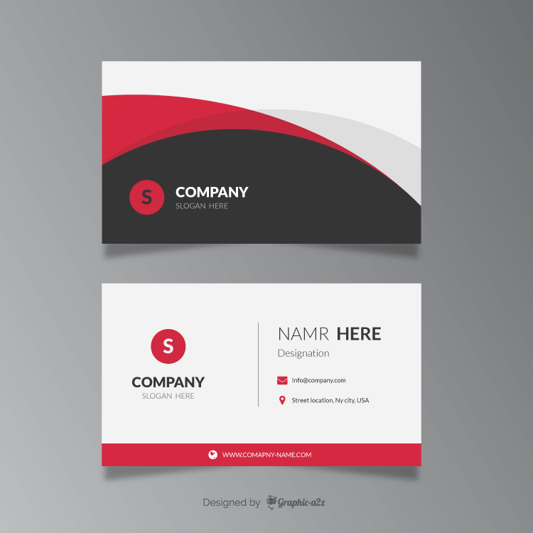Modern corporate business card template on Graphica2z