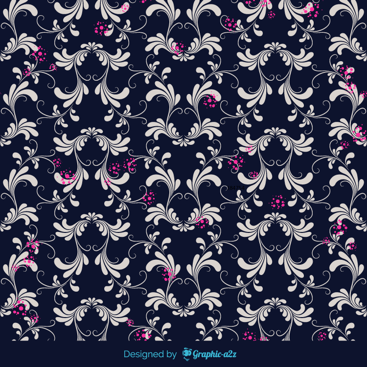Floral background vector set on Graphica2z