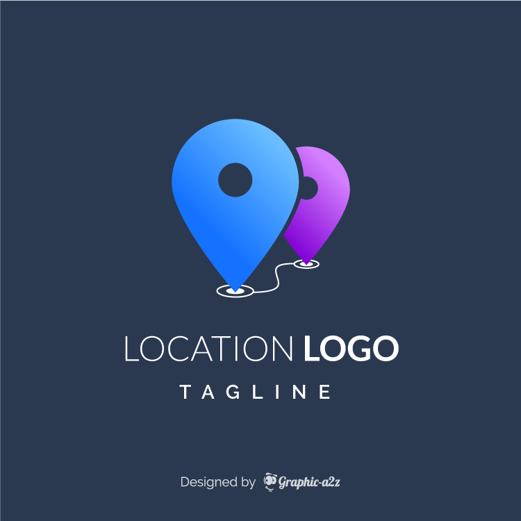 Location logo free vector design on graphica2z