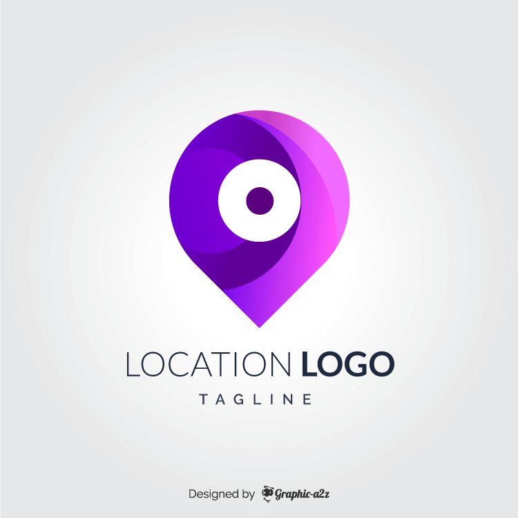 Creative location logo free vector on graphica2z