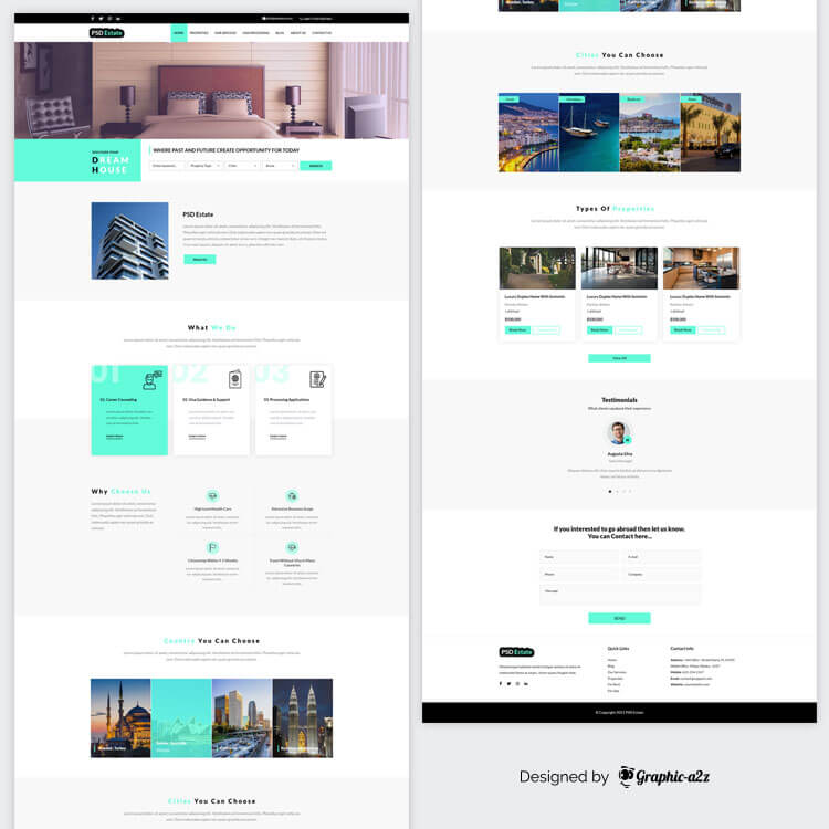 Real Estate Website PSD template designs