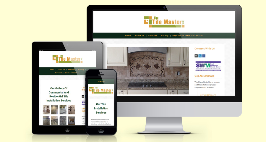 A tiling company website design